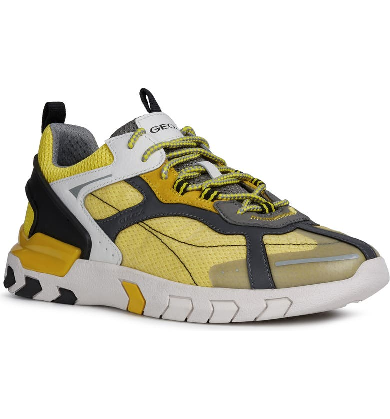 GEOX Grecale 1 Sneaker, Main, color, LIGHT YELLOW/ DARK YELLOW
