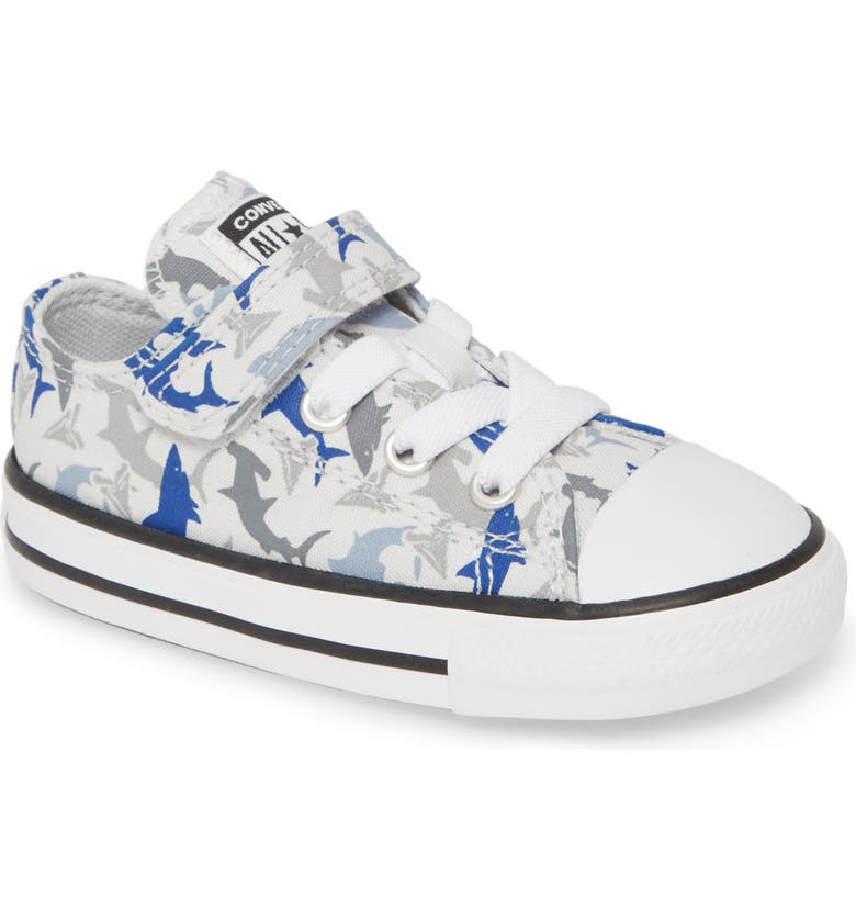 CONVERSE Chuck Taylor<sup>®</sup> All Star<sup>®</sup> 1V Shark Low Top Sneaker, Main, color, PHOTON DUST/ RUSH BLUE/ WHITE