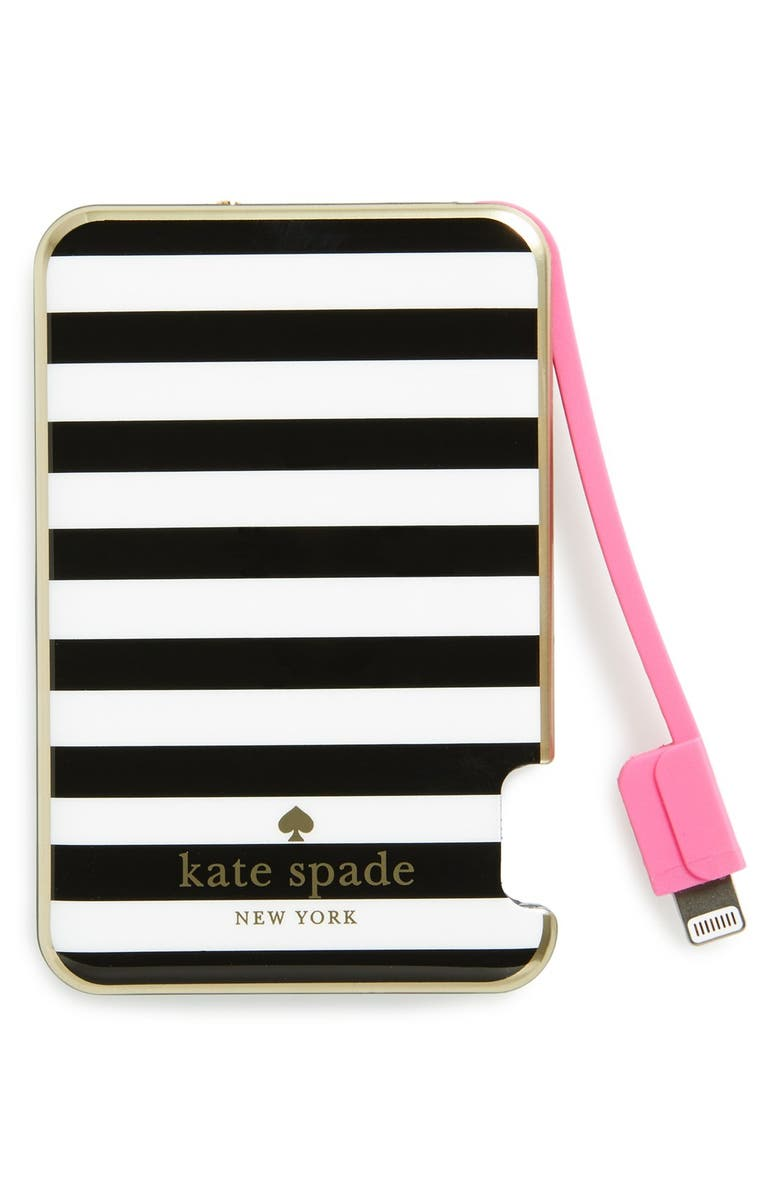 KATE SPADE NEW YORK kate spade new york slim portable charger, Main, color, 001