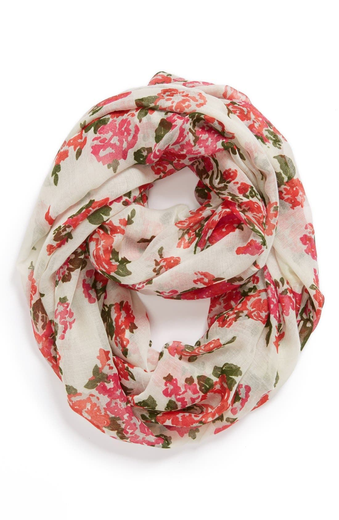 ,                             Capelli of New York 'All Over Flora' Infinity Scarf,                             Main thumbnail 3, color,                             900
