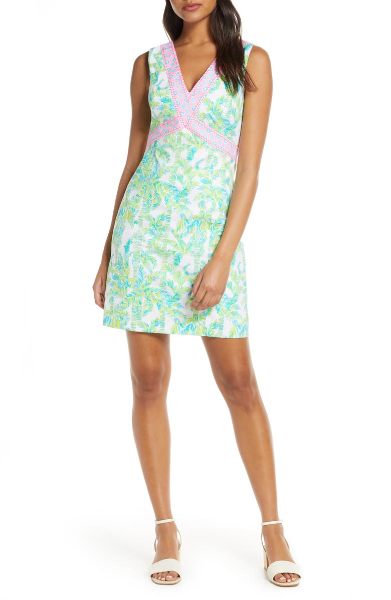 LILLY PULITZER<SUP>®</SUP> Lanora Sleeveless A-Line Dress, Main, color, FRESH CITRUS KEEP PALM