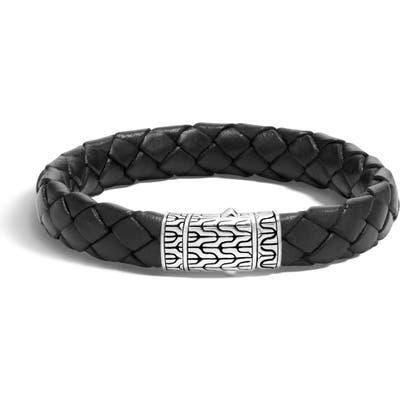 John Hardy Leather & Sterling Bracelet