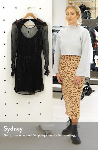 Hayley Long Sleeve Metallic Minidress, sales video thumbnail
