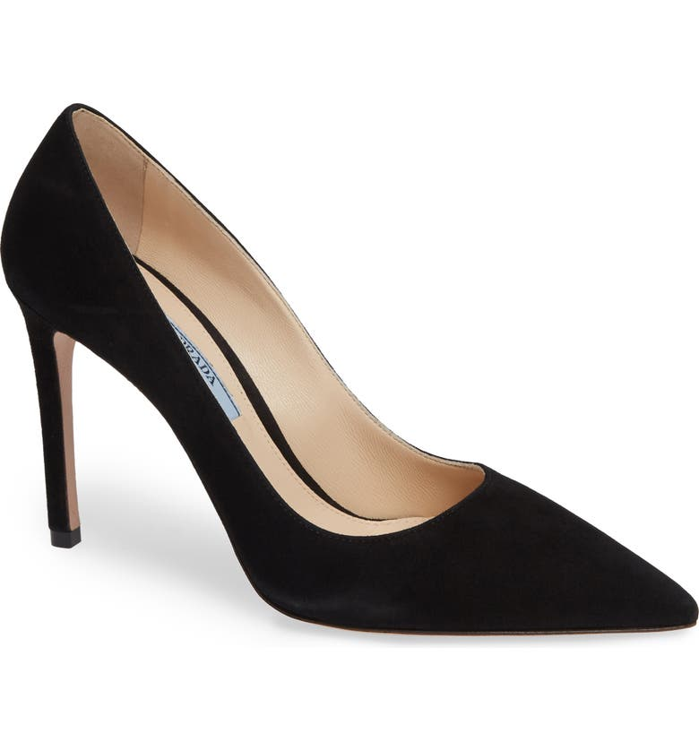 PRADA Pointy Toe Pump, Main, color, NERO