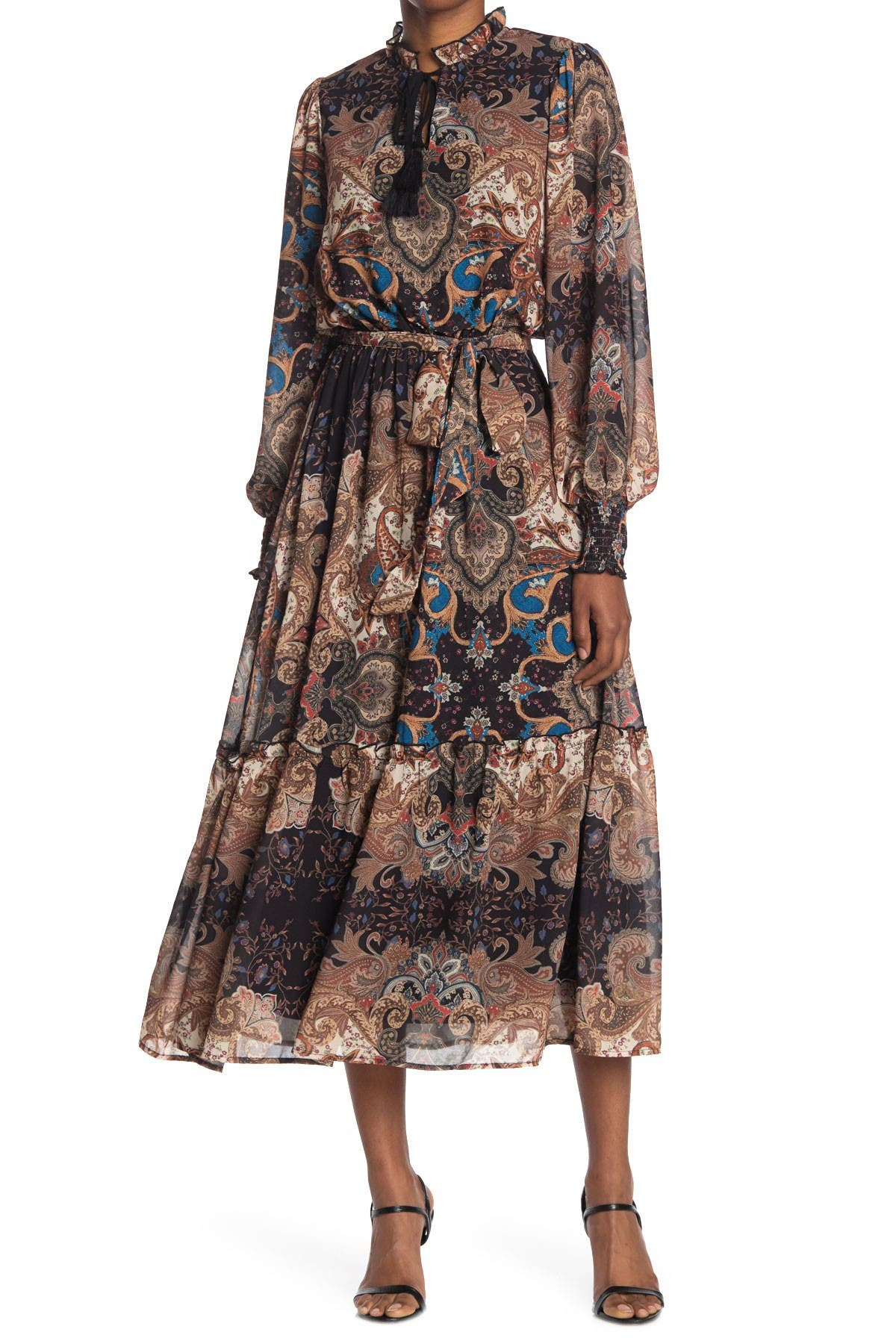 Image of Flying Tomato Woven Printed Maxi Dress