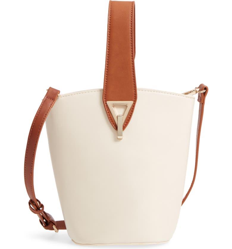 STREET LEVEL Top Handle Bucket Bag, Main, color, 900