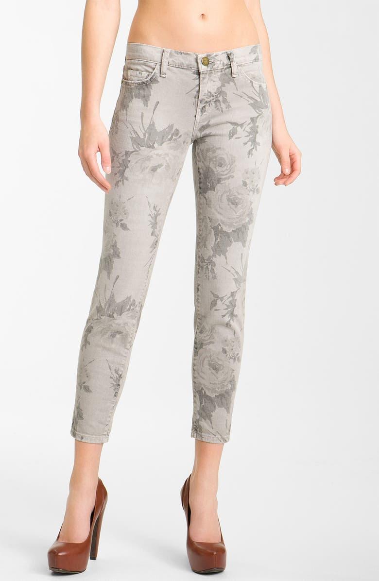 CURRENT/ELLIOTT 'The Stiletto' Print Skinny Jeans, Main, color, 020