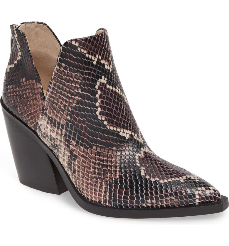 VINCE CAMUTO Gigietta Bootie, Main, color, MAUVE MULTI EMBOSSED LEATHER