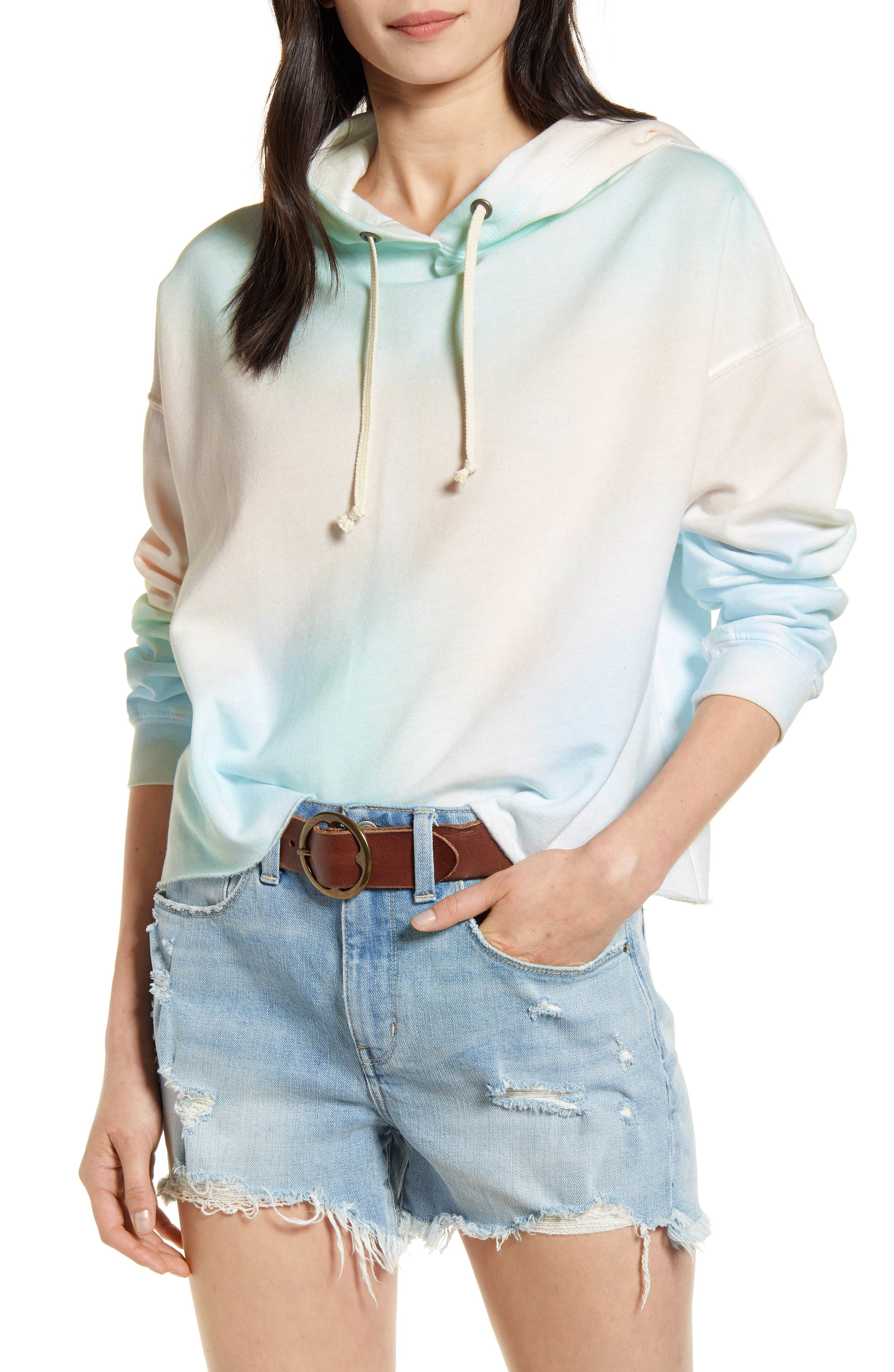 A pastel tie-dye pattern adds understated retro appeal to this ultra-cozy hoodie complete with a raw hem. When you buy Treasure & Bond, Nordstrom will donate 2.5% of net sales to organizations that work to empower youth. Style Name: Treasure & Bond Tie Dye Hoodie. Style Number: 6035246. Available in stores.