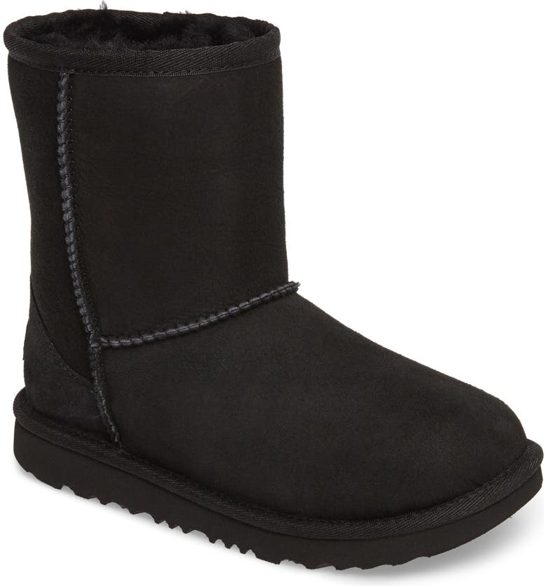 UGG<SUP>®</SUP> Classic Short II Water Resistant Genuine Shearling Boot, Main, color, BLACK