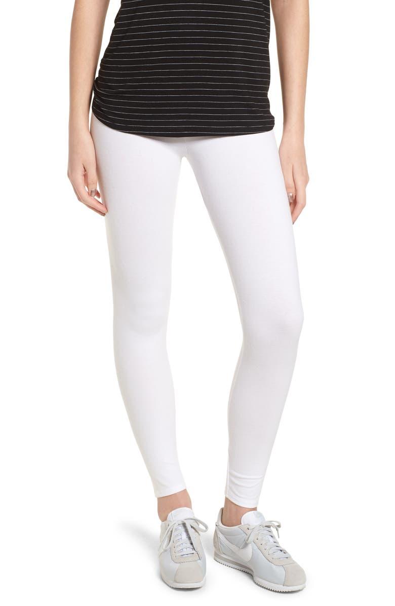 NORDSTROM Go-To High Waist Leggings, Main, color, WHITE