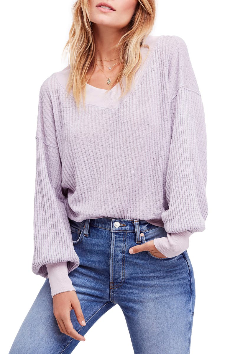 FREE PEOPLE We the Free by Free People South Side Thermal Top, Main, color, LILAC