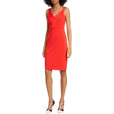 Ted Baker London Trixxie Panel Body-Con Dress, Red
