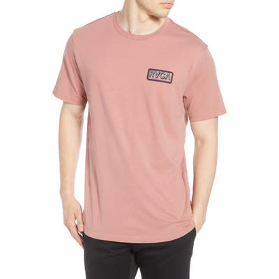 Rvca Octane Logo Graphic T-Shirt, Brown