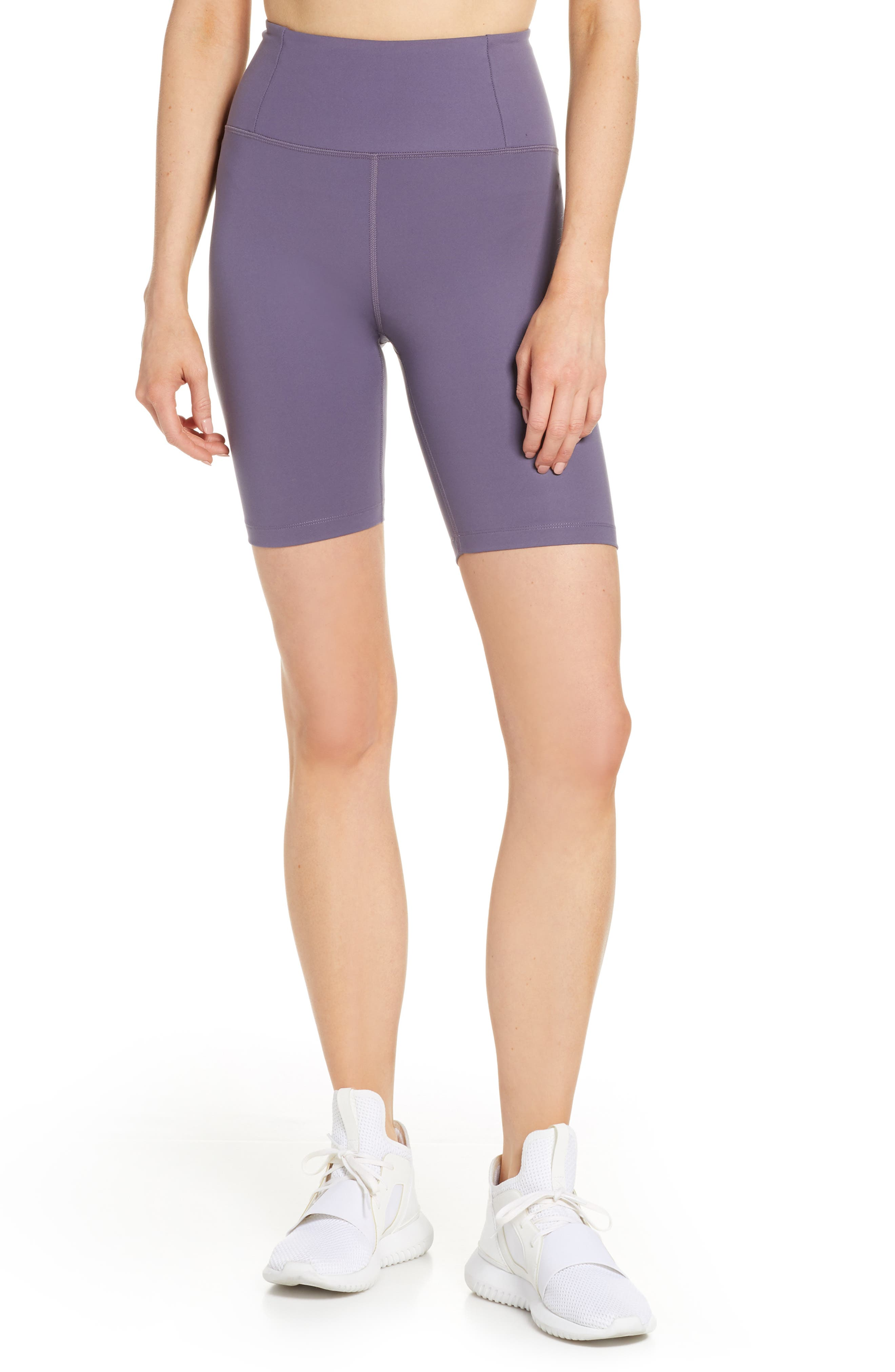 Girlfriend Collective High Waist Bike Shorts, Purple