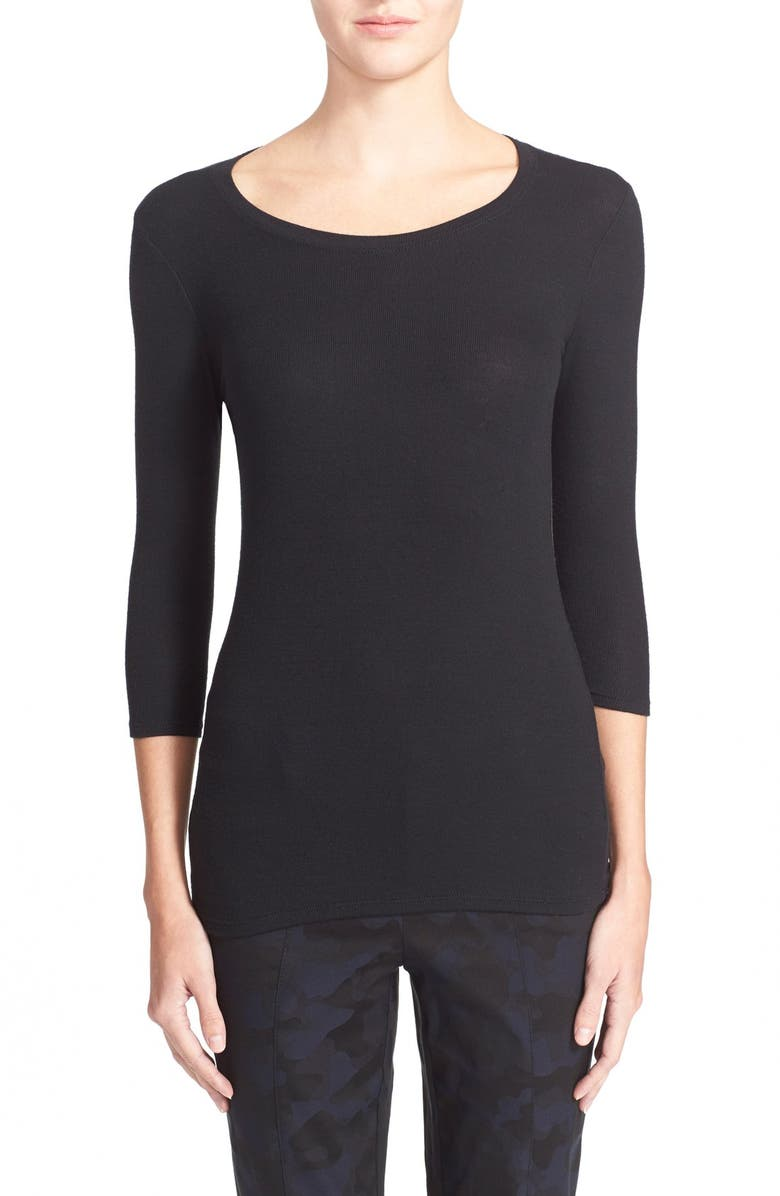 ATM ANTHONY THOMAS MELILLO 'Jackie' Long Sleeve Tee, Main, color, BLACK