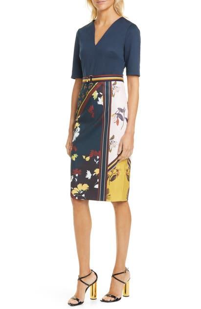 Ted Baker Dresses MADIIY SAVANNA V-NECK BODY-CON DRESS