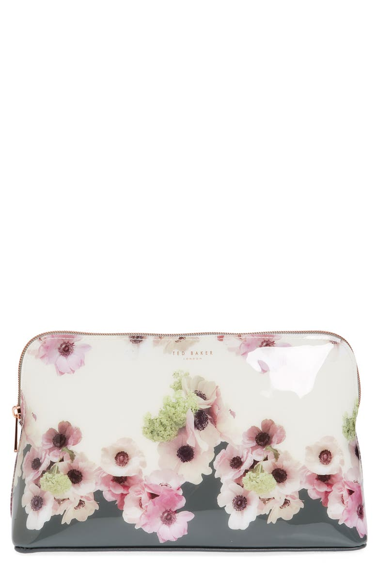 TED BAKER LONDON Ruthin Neopolitan Print Wash Bag, Main, color, IVORY