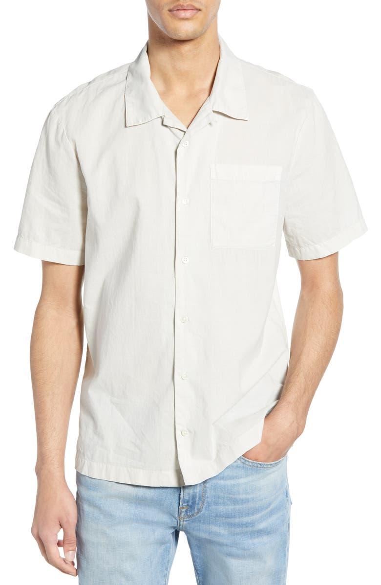 JAMES PERSE Slim Fit Camp Shirt, Main, color, 020