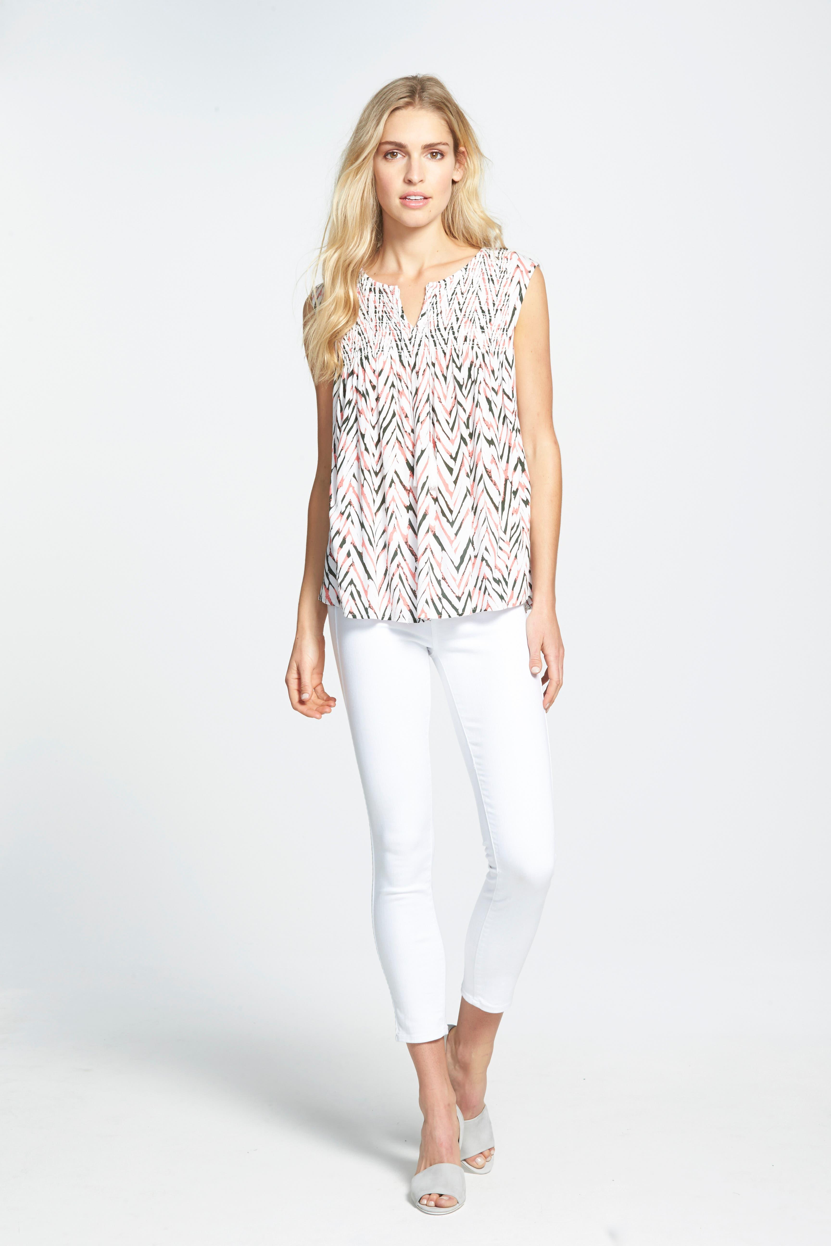 ,                             Denim Hoxton High Waist Skinny Jeans,                             Alternate thumbnail 3, color,                             ULTRA WHITE