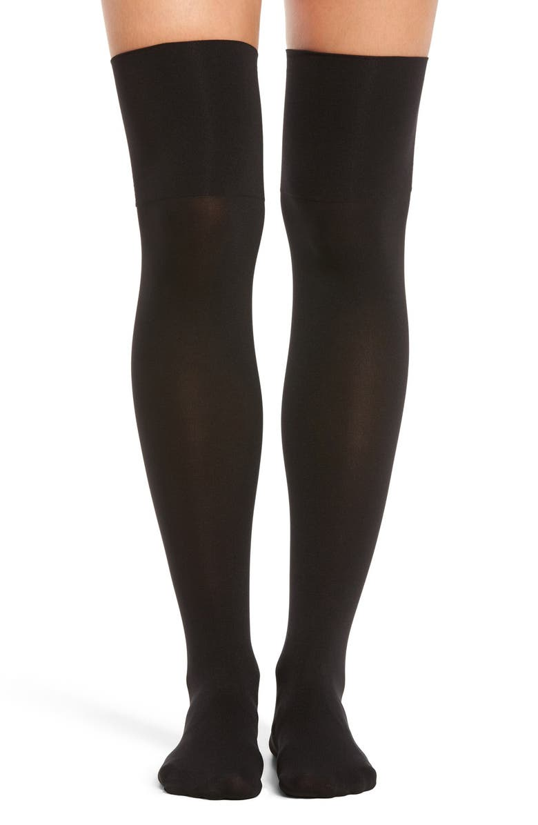 HUE Microfiber Over the Knee Boot Liners, Main, color, 001