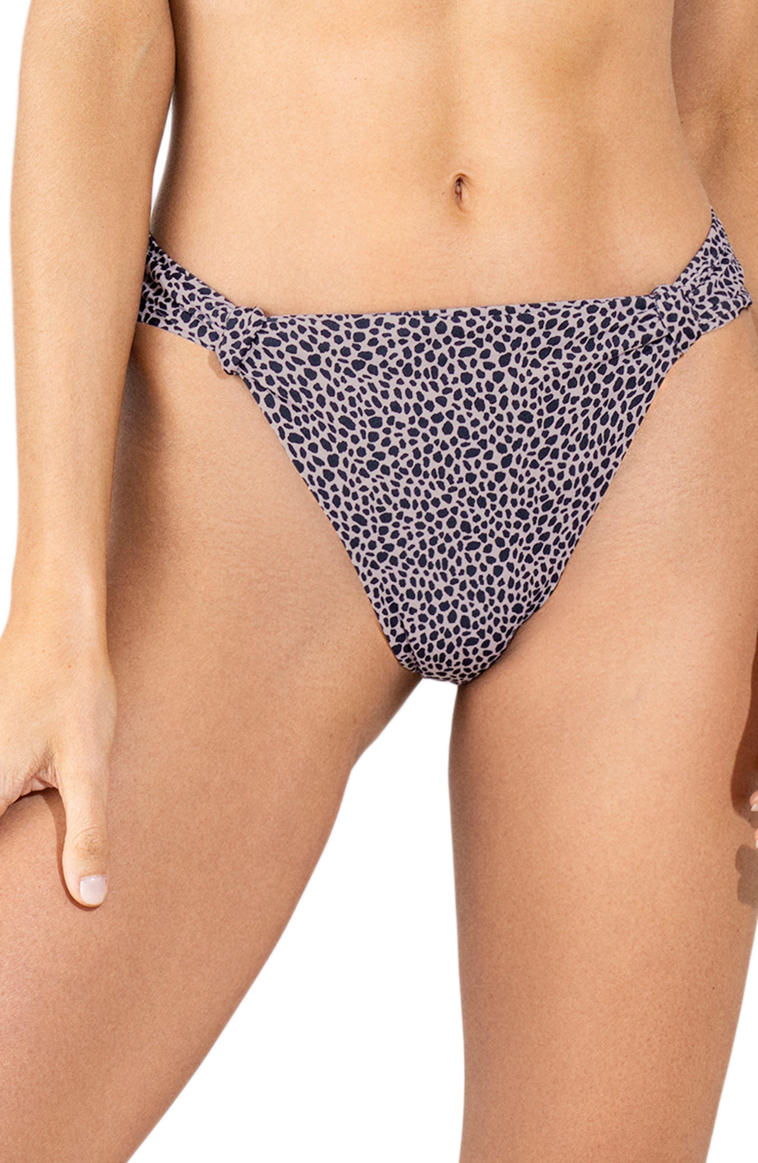 Cheetah Dakota Reversible Side Tab Bikini Bottoms