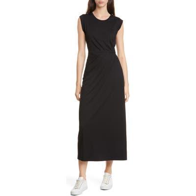 Club Monaco Pleat Detail Knit Dress, Black