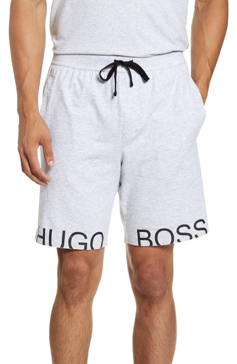 BOSS Identity Lounge Shorts, Main, color, MEDIUM GREY