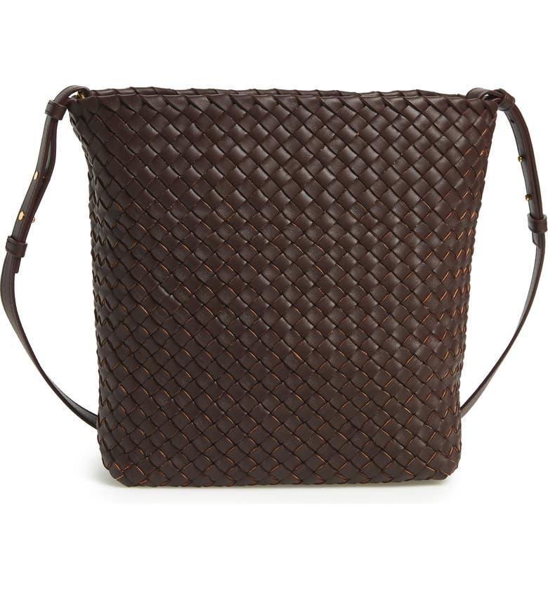 BOTTEGA VENETA Intrecciato Cabata Leather Crossbody Bag, Main, color, OXBLOOD