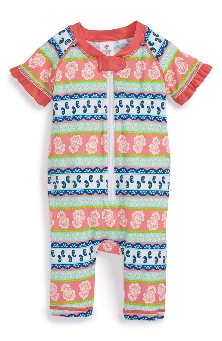 Tucker Tate One Piece Rashguard Swimsuit Baby Girls