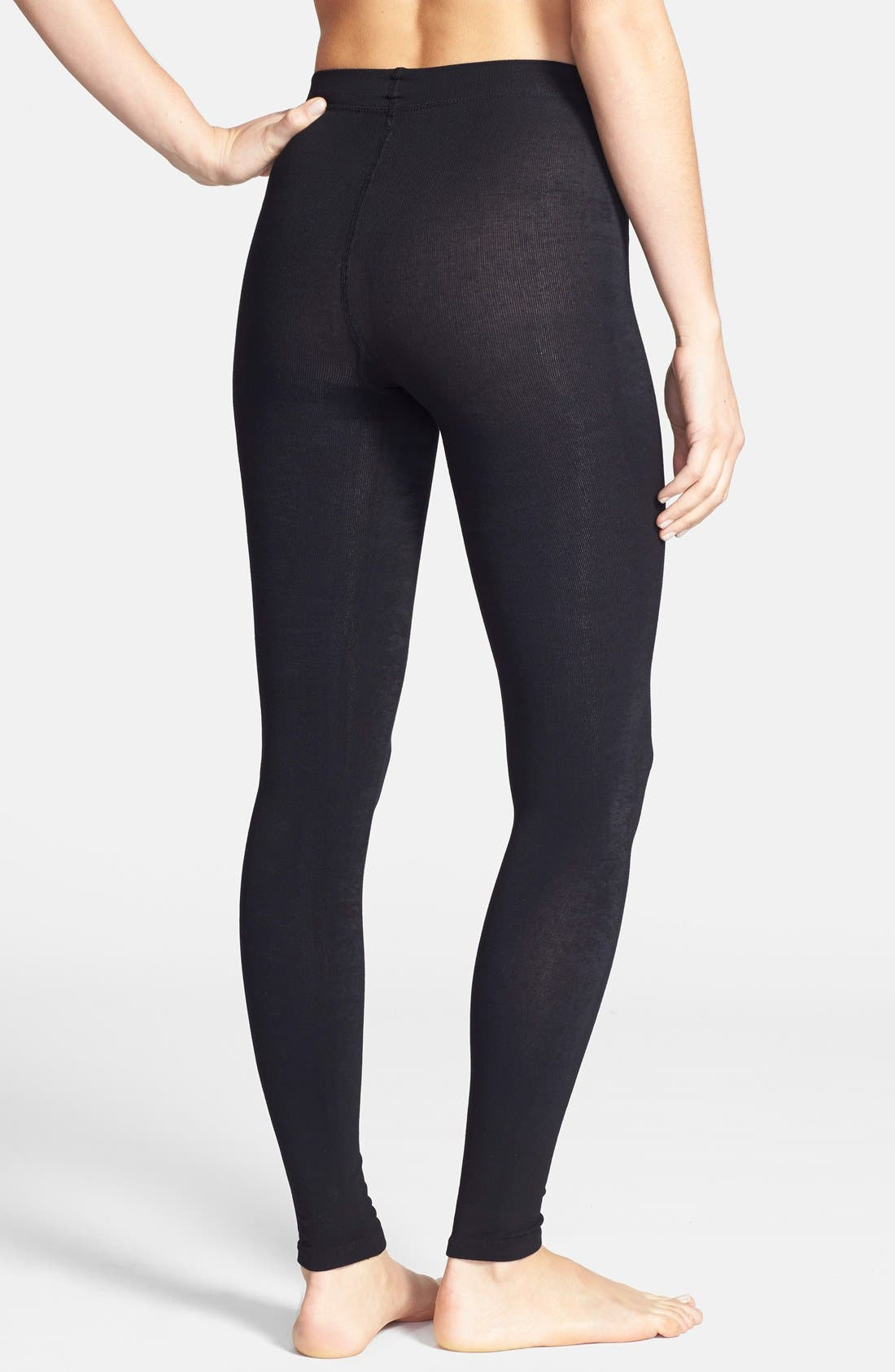 ,                             Donna Karan 'Luxe Layer' Leggings,                             Alternate thumbnail 2, color,                             003