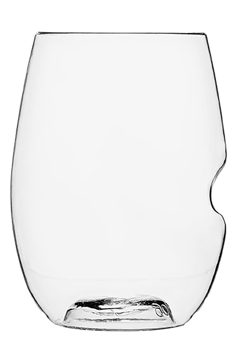 GOVINO Set of 4 Stemless Shatterproof Red Wine Glasses, Main, color, CLEAR