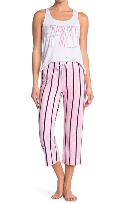 Image of FRENCH AFFAIR I Want It All Tank Top & Capri Pants Pajama 2-Piece Set