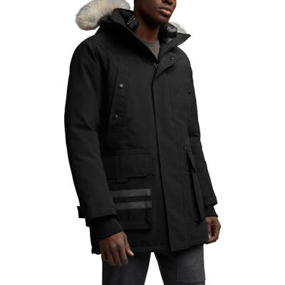 Canada Goose Erickson Down Parka With Genuine Coyote Fur Trim, Black