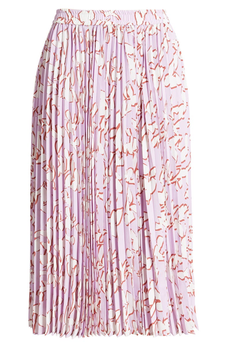 HALOGEN<SUP>®</SUP> Pleated Chiffon Skirt, Main, color, PURPLE BLOOM FLORAL