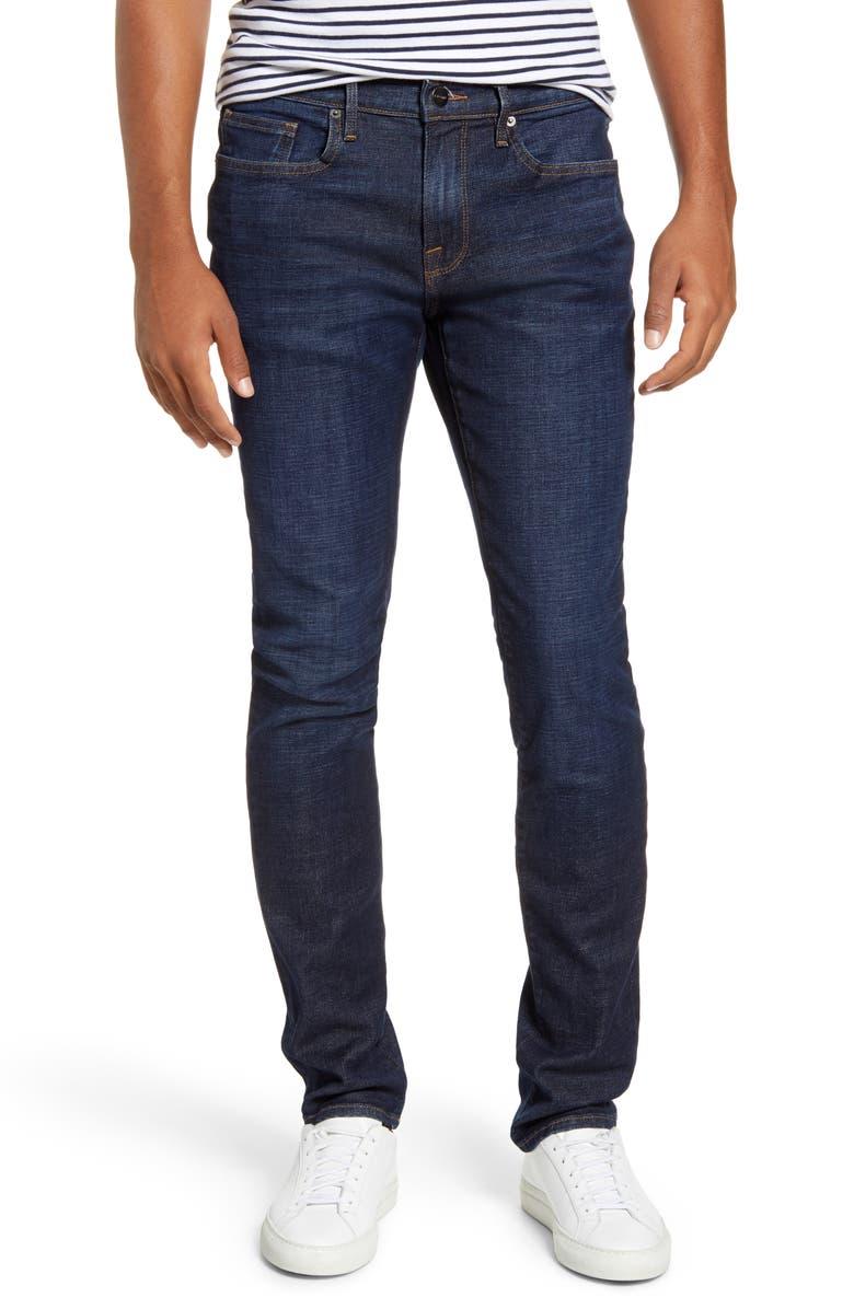 FRAME L'Homme Skinny Fit Jeans, Main, color, BELDAN