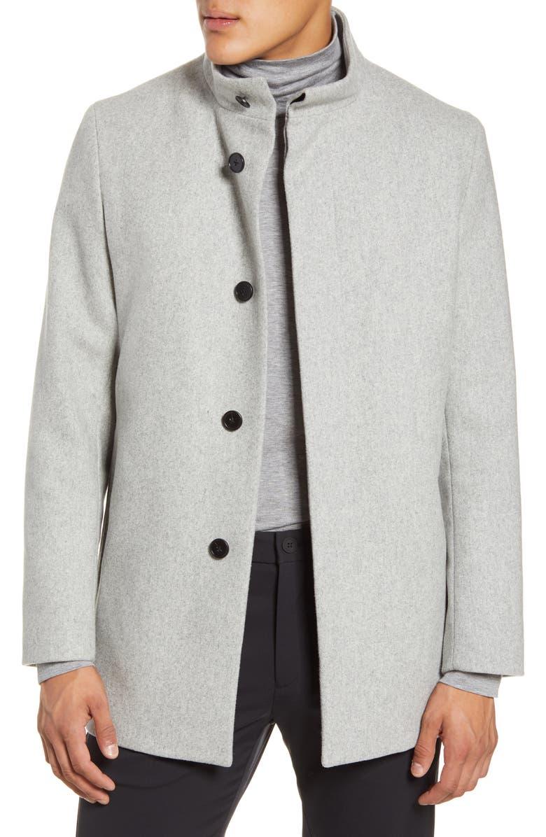 THEORY Christopher Wool Blend Coat, Main, color, PEBBLE MELANGE