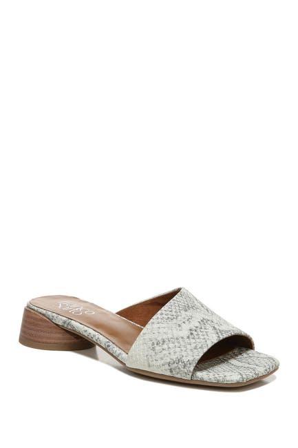 Image of Franco Sarto Leslie Snake Embossed Leather Block Heel Sandal