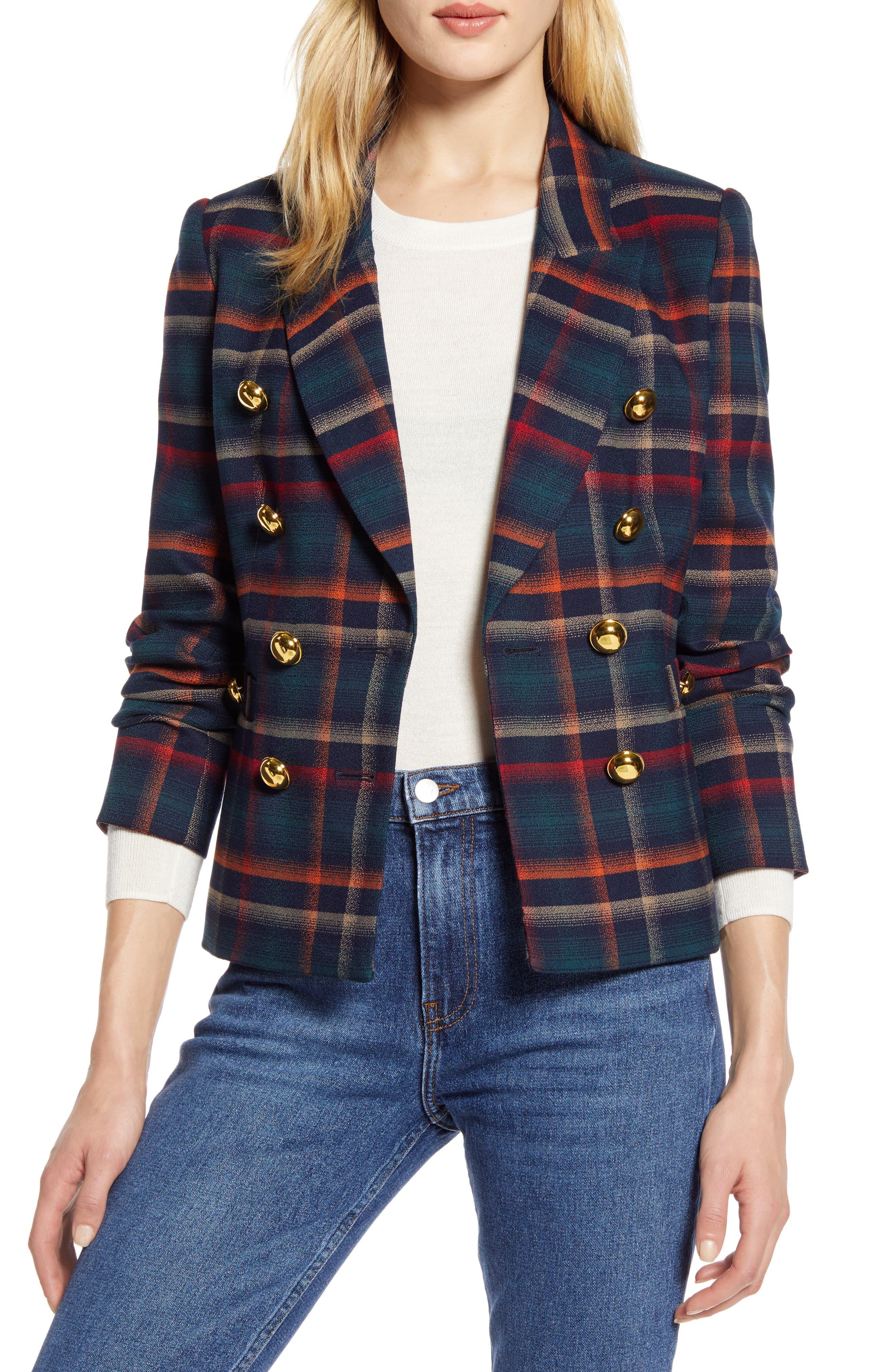 Halogen® x Atlantic-Pacific Plaid Jacket (Nordstrom Exclusive)