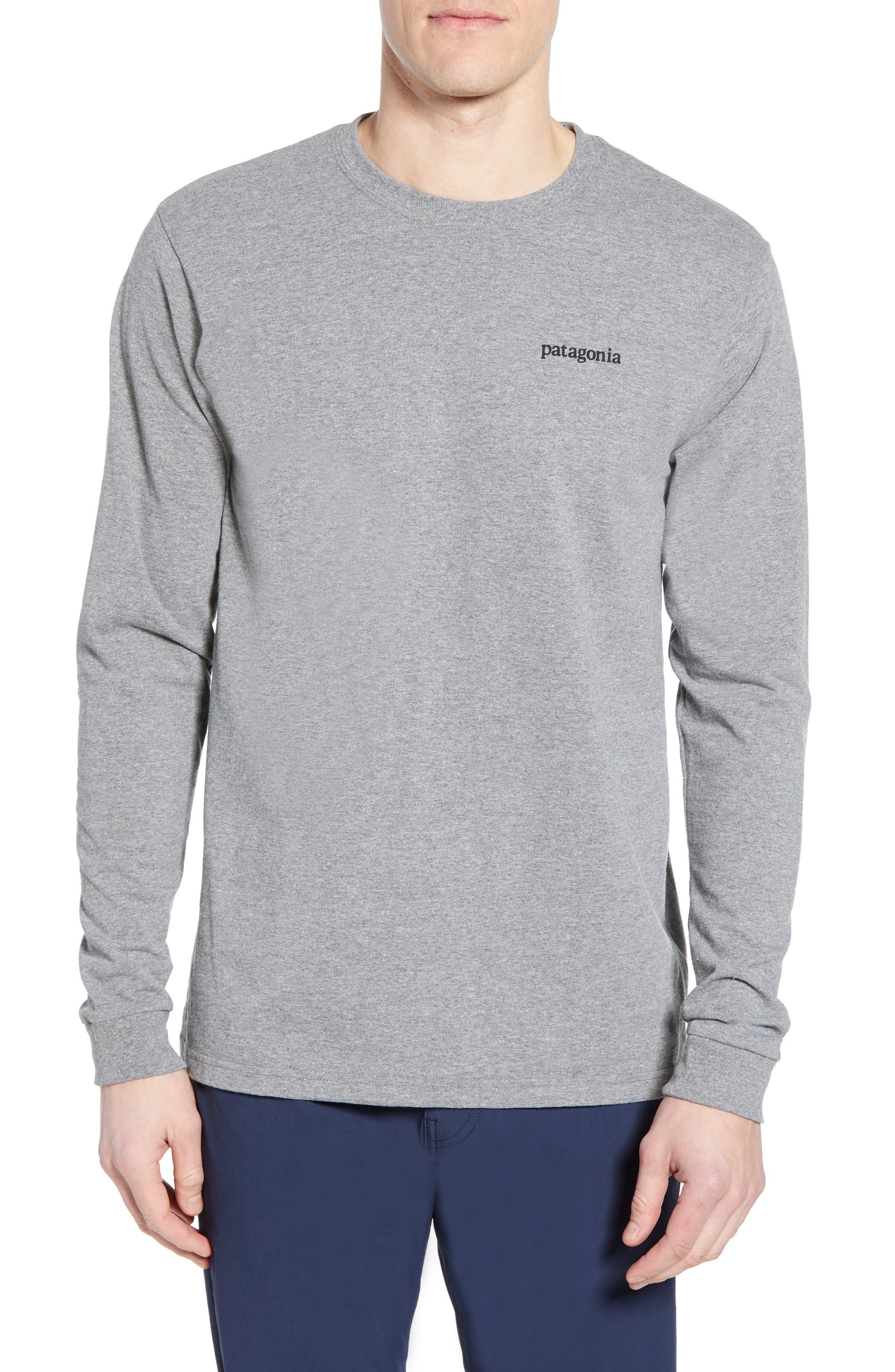 Patagonia Line Logo Long Sleeve Responsibili-Tee T-Shirt, Grey