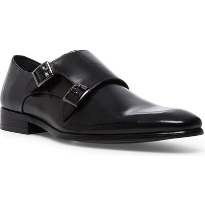 Steve Madden Beaumont Double Monk Strap Shoe- Black