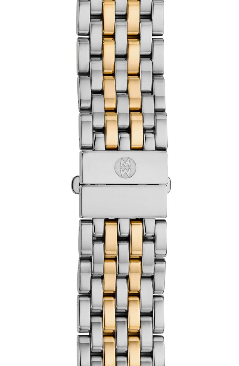 MICHELE Serein 16 16mm Two-Tone Bracelet Watchband, Main, color, SILVER/ GOLD