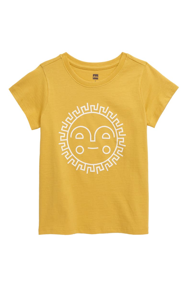 TEA COLLECTION Sunshine Ahead Graphic Tee, Main, color, 700