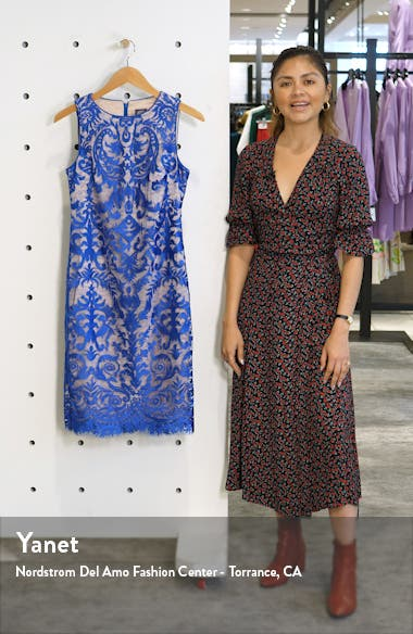 Embroidered Sheath Dress, sales video thumbnail