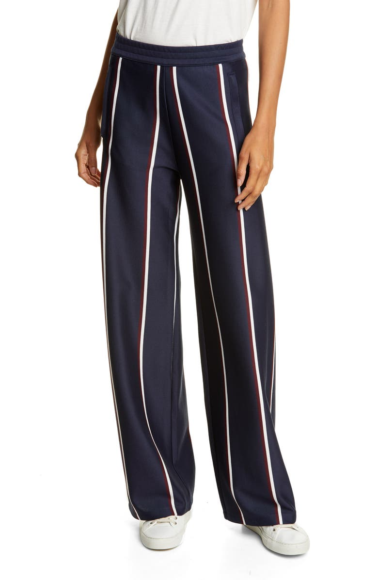 TORY SPORT High Waist Twin Stripe Track Pants, Main, color, TORY NAVY MINI TWIN STRIPE