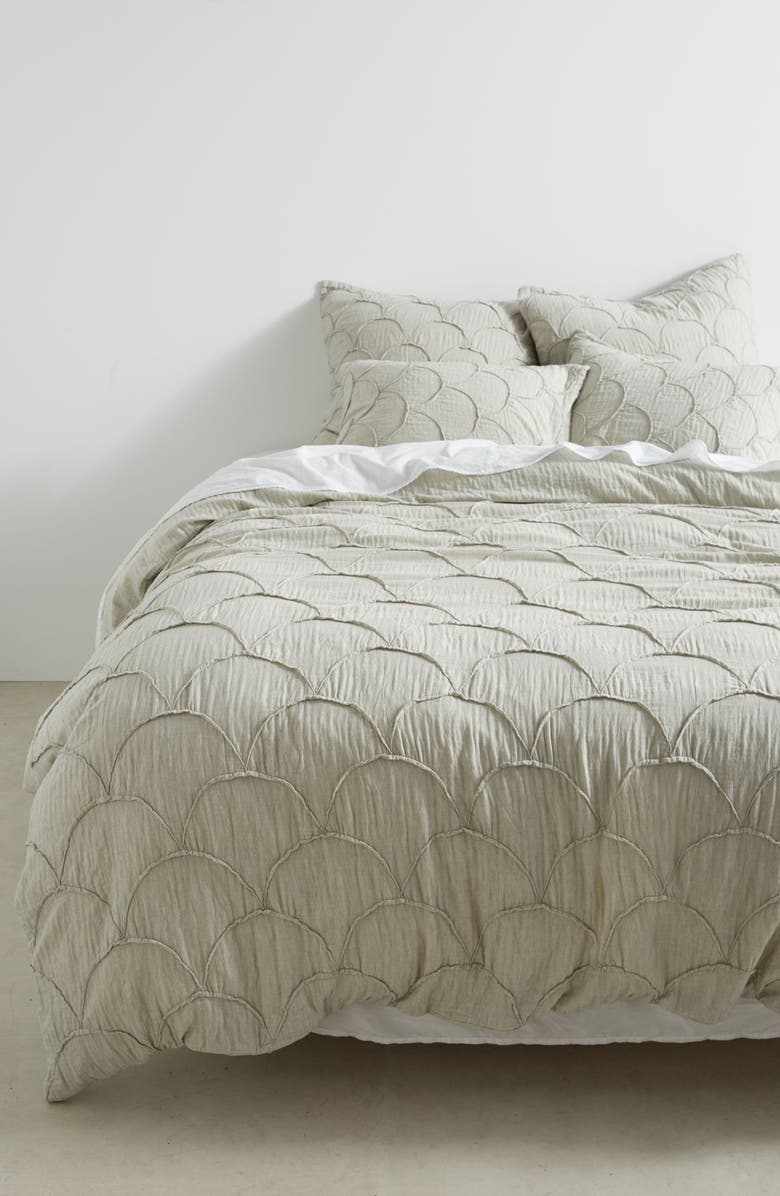 ANTHROPOLOGIE HOME Anthropologie Riji Duvet Cover, Main, color, 020