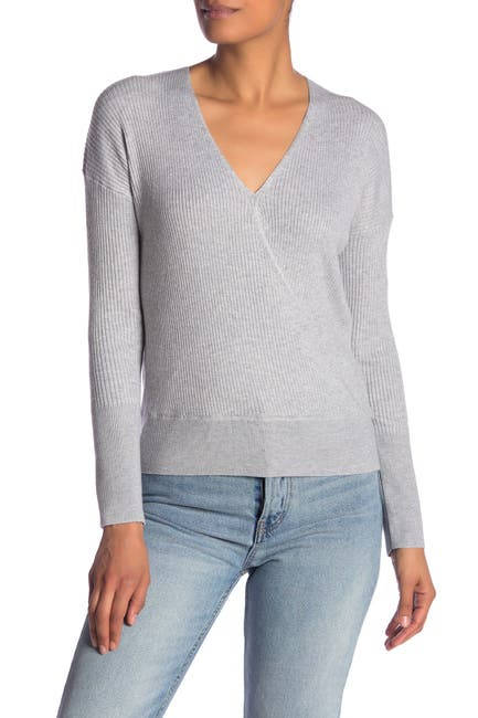 Image of Elodie Ribbed Wrap Sweater