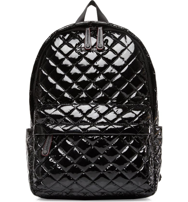 MZ WALLACE City Backpack, Main, color, BLACK LACQUER