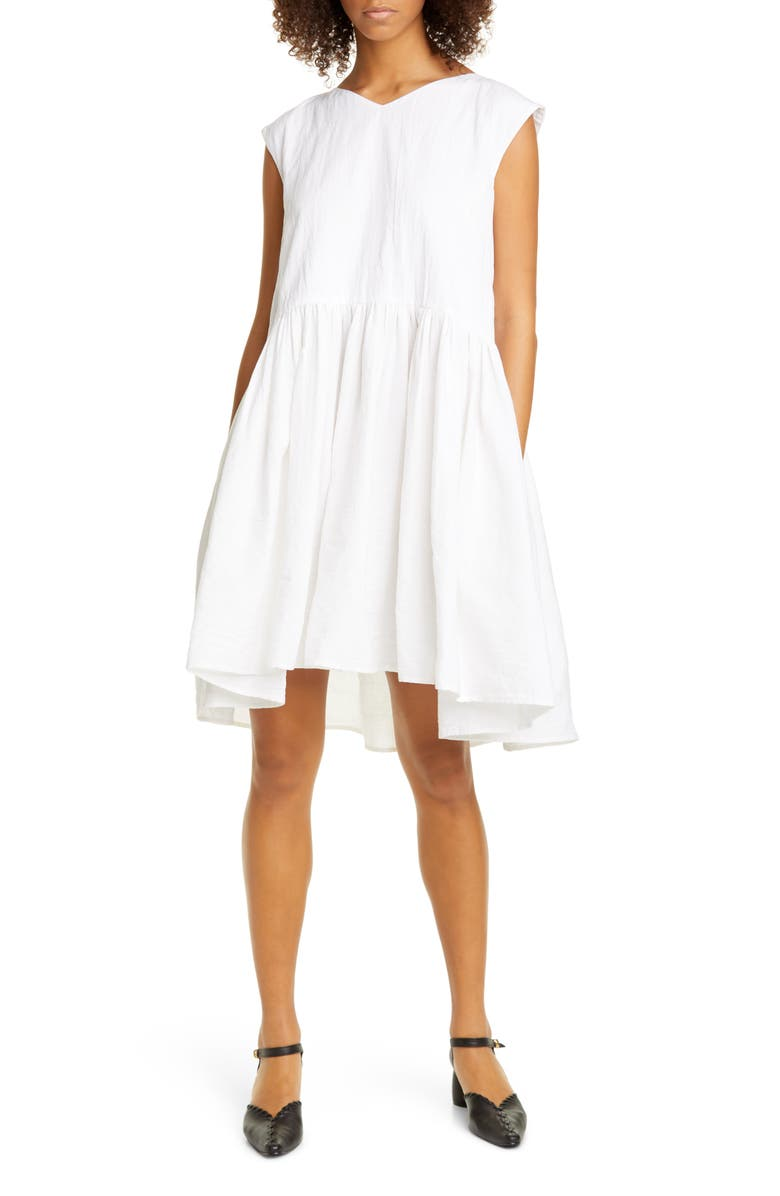 MERLETTE Mercadal Cotton Stretch Dress, Main, color, WHITE
