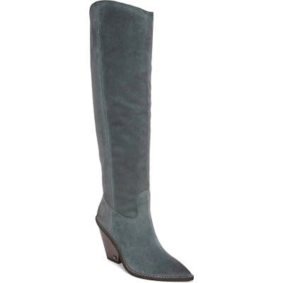 Sam Edelman Indigo Pointed Toe Knee High Boot- Blue